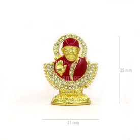 Shirdi Sai Baba Enamel Meenakari Idol