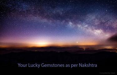 Lucky Jyotish Gemstones as per Nakshtra