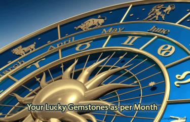 Lucky Jyotish Gemstones as per Month