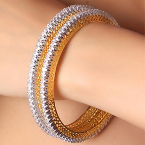 p ct line eternity solid bangle certified diamond bangles gold single natural