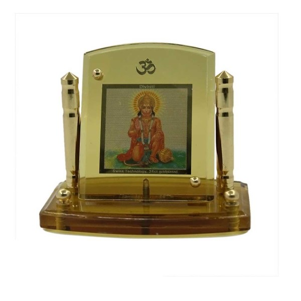 Lord Hanuman Diviniti 24ct Gold Foil Car Frame