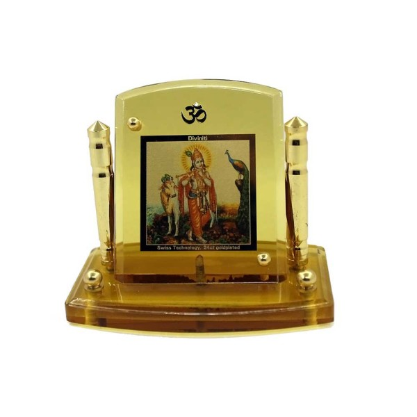 Lord Krishna Diviniti 24ct Gold Foil Car Frame