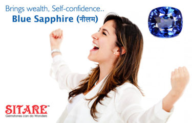 Brings Wealth Self-Confidence Blue Sapphire